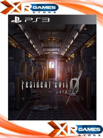 Resident Evil 0 Remasterizado - Zero - Psn Ps3 - Envio Agora