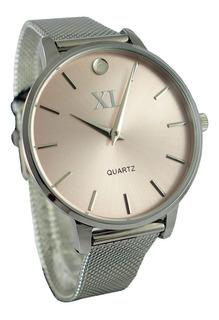 Reloj Xl Extra Large Dama Dorado-plateado Xl725 Xl726 Xl727