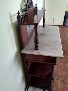 Antiguo Mueble Con Espejo De Mármol Y Desarmable