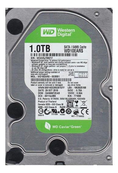 Disco rígido interno Western Digital WD Caviar Green WD10EARS 1TB verde