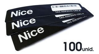 Kit 100 Tag Veicular Linear Cr5-a Adesivo Etiqueta Sem Parar