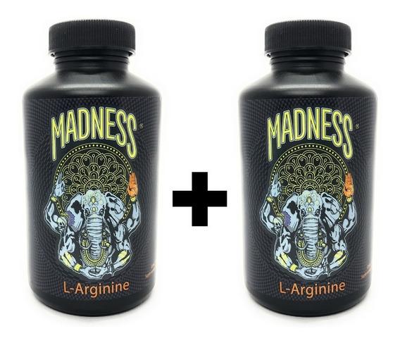 Madness Lab L-arginine 120 Capsulas 250mg/cap. (2 Unidades)