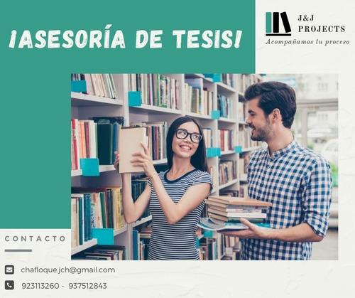 Asesoría De Tesis, Proyecto De Tesis Y Estadística
