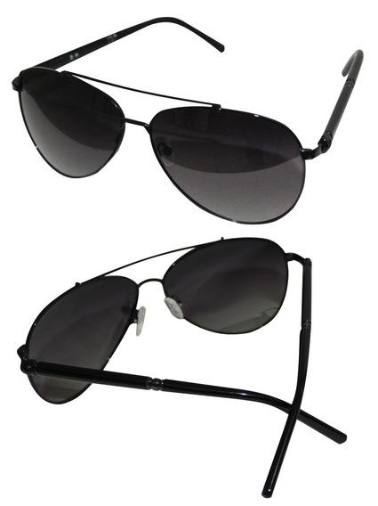 Óculos De Sol Aviador Unissex Lente Degrade Suave Uv400