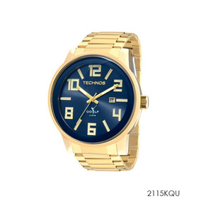Relógio Technos Masculino Dourado 2115kqu