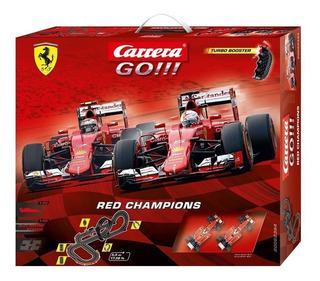 Pista Slot Carrera Go!!! Red Champions Ferrari Escala 1/43