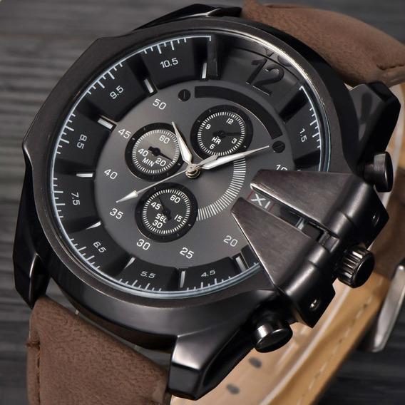 Relógios Masculinos Xi-new Marrom Super Barrato