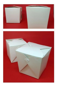 250 Embalagens Box Delivery P/ Comida - Branca - 500ml/850ml