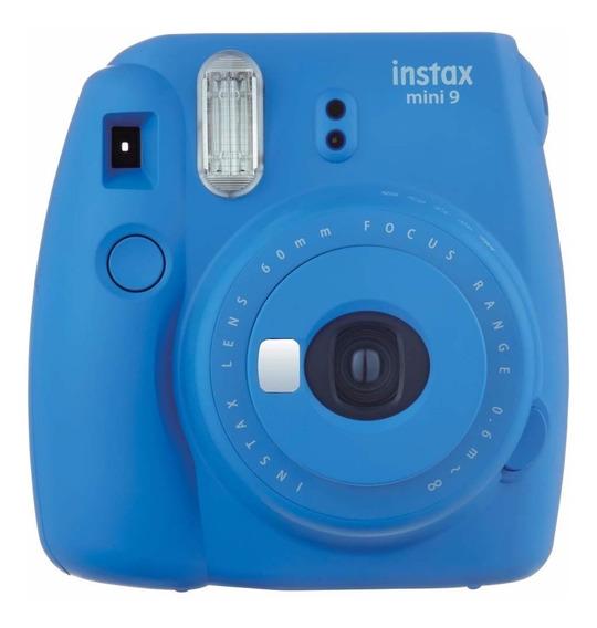 Câmera Fotográfica Instantânea Fujifilm Instax Mini 9 Azul Cobalto Com Flash E Espelho Para Selfie