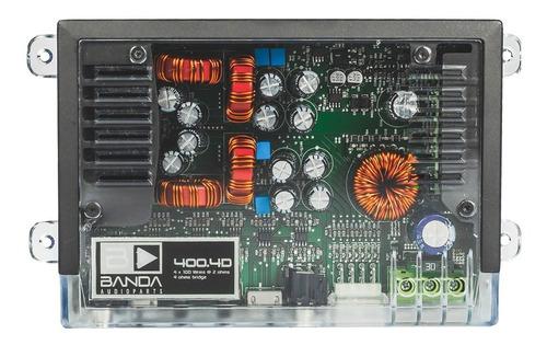 Módulo Amplificador Banda 400.4 Transparente 400 Rms 4canais