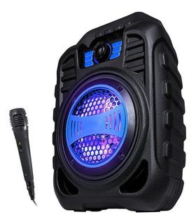 Parlante Bluetooth Portátil Radio Fm Mic De Regalo Karaoke