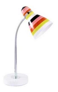 Luminaria De Mesa Metal/rayas De Color Tecnolite 2g 1505mr