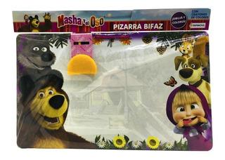Pizarra Bifaz Para Crayon Masha Y El Oso Sharif Express