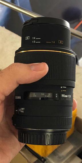 Lente Sigma 105mm 1:2.8 Ex
