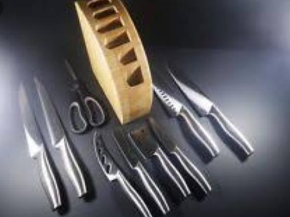 Jogo De Facas - Cozinha Culinária Restaurante Gastronomia
