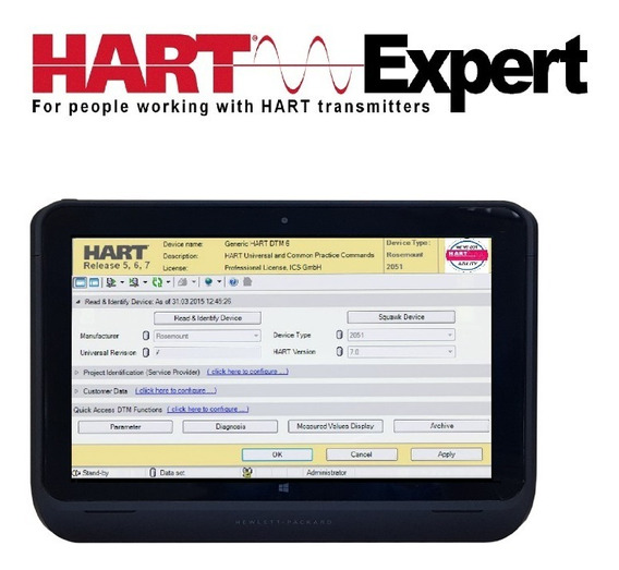 Configurador / Programador Hart Elitepad + 512gb + Docking