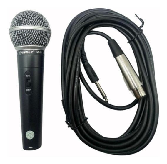 Microfone Com Fio Dinâmico Profissional Metal Uso Profissional Barato Promoção
