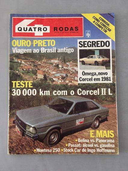 Revista Quatro Rodas Setembro 1980 - Nº 242 Ômega Corcel 2