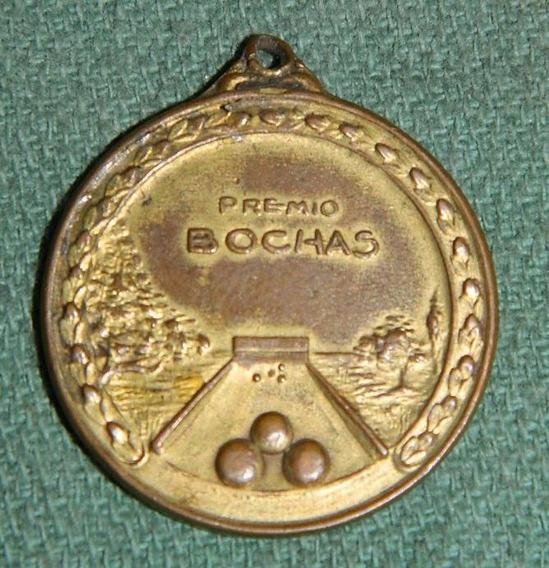 Medalla Premio De Bochas / Balanzas Y Cortadoras