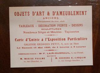 Entrada A Una Exposicion De Arte Y Muebles En Paris Año 1920