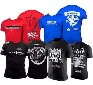 Combo 4x - Camisa Zyzz + Azul Profit + Darkness + Bope