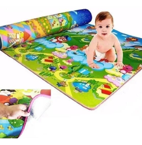 Tapete De Atividades 1,80 X 1,20 Bebês Atividades Conforto Menino Ou Menina