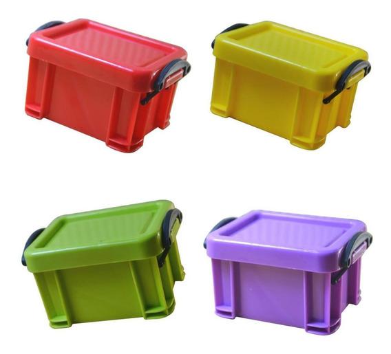 4pcs Plástico Armazenamento Caixa Limpar Boxes Com Tampas C