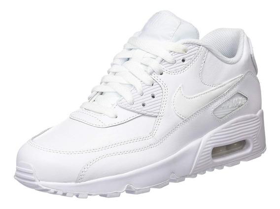 Zapatillas Nike Air Max 90 Blancas Cuero Lo Mas Buscado!!