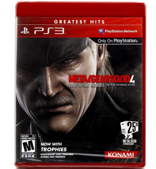 Metal Gear Solid 4 Guns Of The Patriots Ps3 Mídia Física