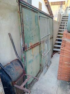 Portão De Ferro 3,20mts X 2,10 Mts Com Portão Embutido