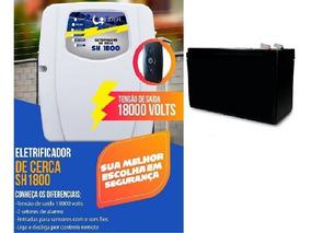 Kit Central De Cerca Elét. Sh1800 Control + Bateria 7amp