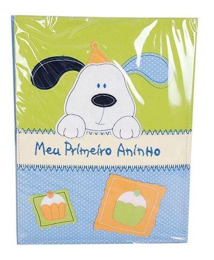 Álbum 240 Fotos 10x15 Bebe Bordado Meu 1º Aninho Azul 501/05