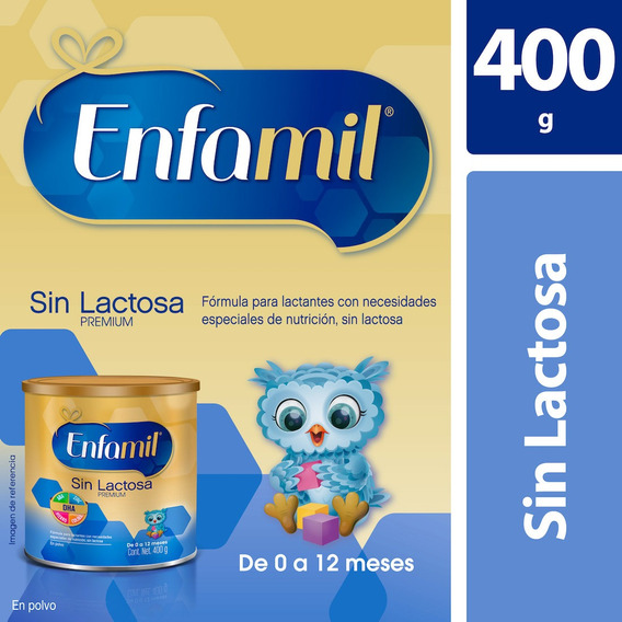 Fórmula Infantil Enfamil Sin Lactosa 0-12 Meses, Lata 400 G