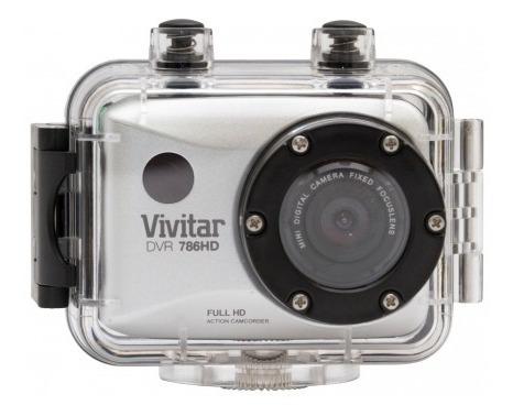 Câmera Filmadora De Ação Hd Com Acessórios Dvr786hd Vivitar