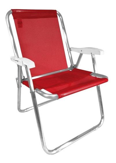 Cadeira Max Alumínio Oversize Reforçada Praia Até 140kg Zaka