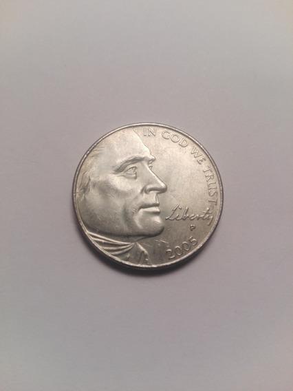 Usa Moneda 5 Centavos Año 2005 Letra P Conmemorativa