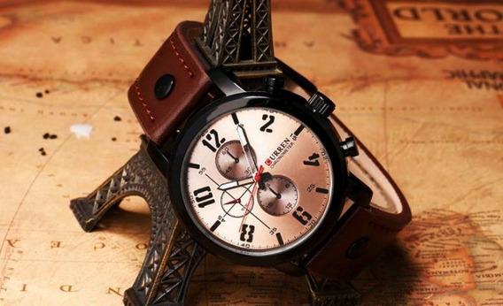 Relógio Masculino Esportivo Curren 8192 Pulseira De Couro