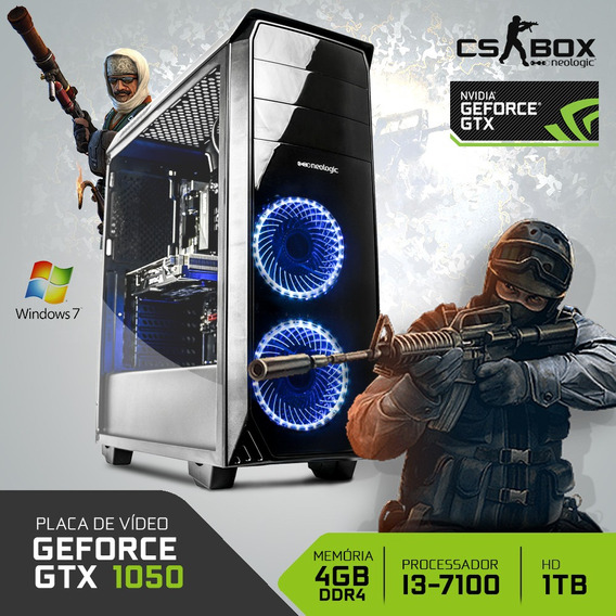 Pc Gamer Neologic Cs Box Nli7022 I3 4gb (gtx 1050) 1tb W7