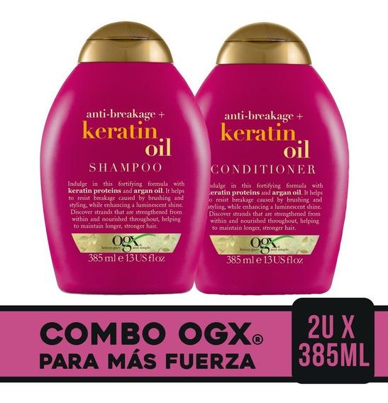 Ogx Combo Keratin Oil Shampoo 385ml + Acondicionador 385ml