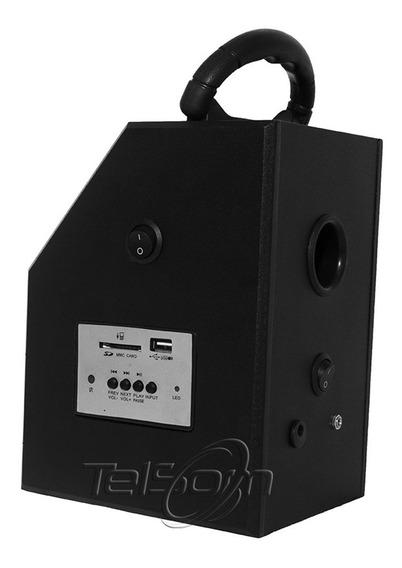 Caixa De Som Acustica Com Laser Usb - Fm