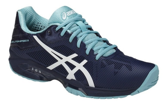 Tenis Asics Solution Speed 3 #4 Azul Voleibol Handball Tenis