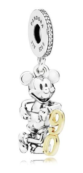 Berloque Mickey 90 Anos Com Ouro 14k