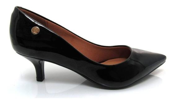Sapato Scarpin Feminino Salto Baixo Verniz Vizzano 1122628
