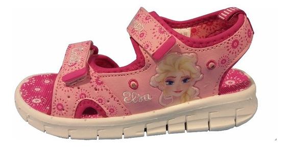 Disney Sandalias Frozen Rosa Con Luces Talles 25 Al 28