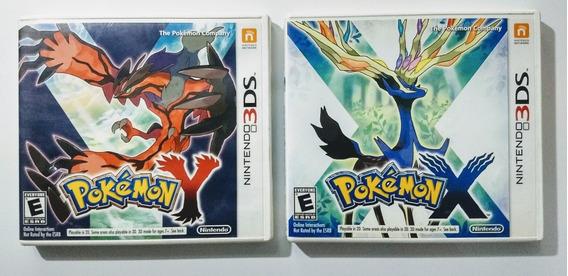 Pokemon Y E Pokemon X Version - 3ds - Impecáveis Usados !!!