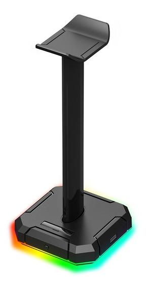 Suporte Para Headset Gamer Redragon Scepter Pro Com Led Rgb - Ha300