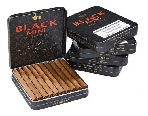 Puritos Cigarros Villiger Mini Black X20 Puros Lata Habanos