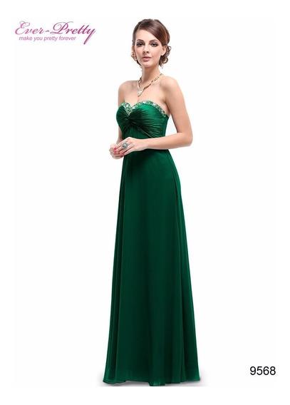 Vestido Longo Ever Pretty Verde Importado Pronta Entrega