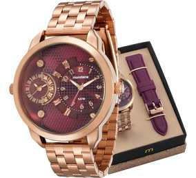Relógio Mondaine Feminino Troca Pulseiras 76715lpmvre3
