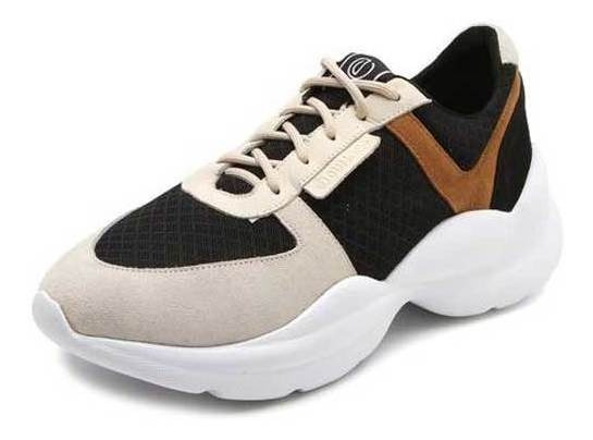 Tênis Dumond Dad Sneaker Chunky Preto/bege